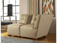 Colin Corner Chair - Warm Camel Fabric - Casual Elegance - Contemporary Design