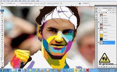 #rogerfederer #polygonportrait #popart #artist #yogikumar #yogiarts