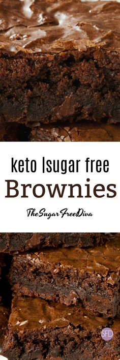 The look like they are an amazing dessert or snack to bake. The look like they are an amazing dessert or snack to bake. Diabetic Desserts, Sugar Free Desserts, Sugar Free Recipes, Fun Desserts, Diabetic Recipes, Keto Brownies, Sugar Free Brownies, Low Carb Deserts, Low Carb Sweets