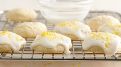 You won't believe these tender lemon cookies are made with sugar cookie dough.