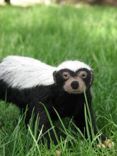 Honey Badger - Needle Felted Sculpture. Who has $300 to spare for this AWESOME?!
