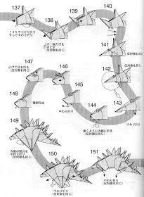 PAPIROFLEXIA PARA TOD@S: TUOJIANGOSAURUS Diy And Crafts, Dinosaurs, Dragon, Paper, Origami Diagrams, Dragons