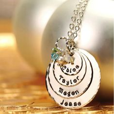 IHAVE TO HAVE THIS!  Mothers Day - EXCLUSIVE - Quad-Color Personalized Pendant