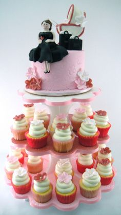 There Should Always Be Cake - OH HOW PRETTY MOM CUPCAKE TOWER