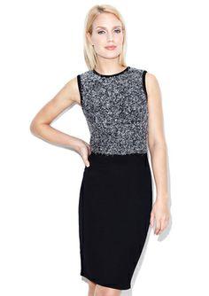 On ideeli: MARC NEW YORK Sleeveless Textured Knit and Satin Skirt Combo Dress