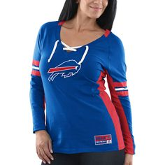 Women s Buffalo Bills Majestic Royal Winning Style Long Sleeve T-Shirt 3f1a320c1