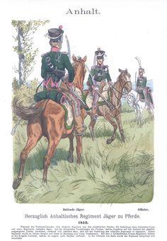 Band IV #3.- Anhalt. Herzoglich Anhaltisches Jäger-Regiment zu Pferd. 1813.