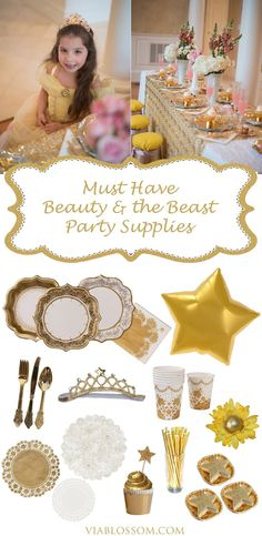Must have Beauty and the Beast Party ideas for a magical Belle's Tea Party.