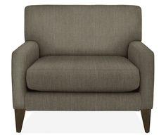 Sunroom - my office; Knox Chair & Ottoman - Chairs - Living - Room & Board