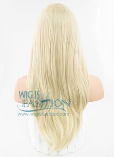 """24"""" Long Wavy Light Blonde Fashion Synthetic Hair Wig PL380 - Wig Is Fashion"""