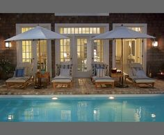 love the french doors, pool, and patio furniture