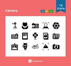 Camera   Icon Pack - 15 Solid Icons