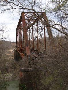 Train Bridge. Goliad, Texas