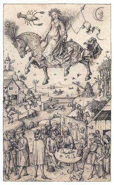 Hausbuch Wolfegg 17r Luna - Hausbuch (Schloss Wolfegg) – Wikipedia