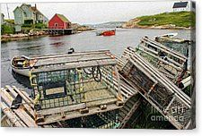 Nova Scotia Crab Country Canvas Print by Bill Hayes