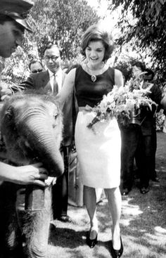 Jackie during her trip to India in 1962