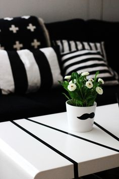 By Inspiration Design   Pia Wallen Blanket   Black & White, Scandinavian, Nordic