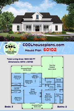 Barn House Plans, Ranch House Plans, Country House Plans, Dream House Plans, Small House Plans, Country Farmhouse, Pole Barn Homes, Country Style, Future House