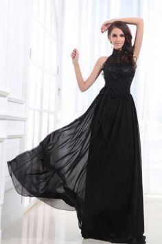 long evening dress, vintage evening dress, black evening dress 2014