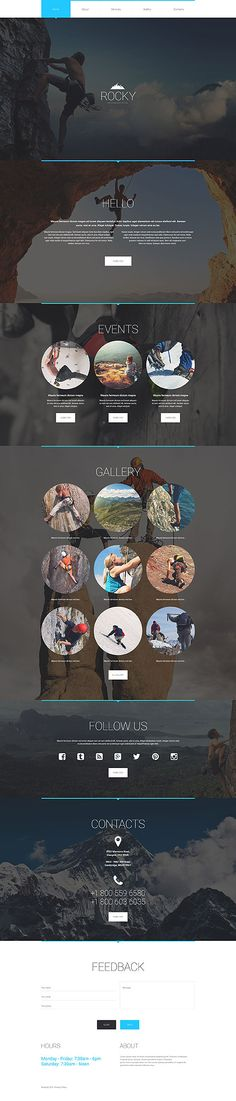 Climbing Club & School #website #template. #themes #business #responsive