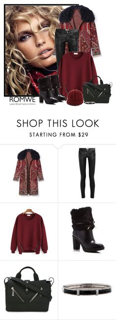 """""""Romwe zipper red sweater"""" by lorrainekeenan ❤ liked on Polyvore featuring Tory Burch, Yves Saint Laurent, MICHAEL Michael Kors, Kenzo and NOVICA"""