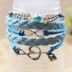 Fashion Jewelry Happy Note Knit Leather Bracelet QNW8025 #New #Knit 99.C