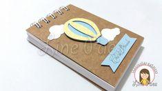 Capa: Kraft 420g e aplicações scrap  Tamanho: 8x11cm  80 folhas brancas s/ pauta  Encadernação: Wire-o  Personalizamos em qualquer tema.    Embalagem: Saquinho Transparente.