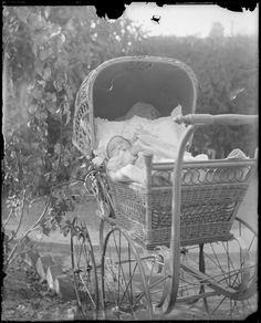 Baby Winsome in pram, Wagga Wagga Region, New South Wales, ca. 1912 | Flickr - Photo Sharing!