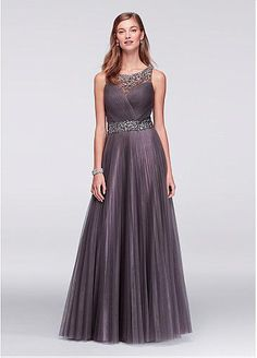 9487afa5db Romantic Tulle Scoop Neckline A-line Floor-Length Mother Of The Bride  Dresses With
