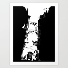 Streetlife Art Print by Peter Goes | Society6