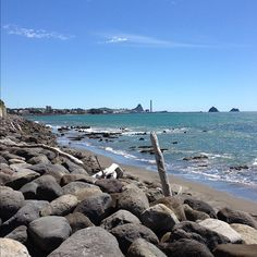 Beach in New Plymouth, New Zealand