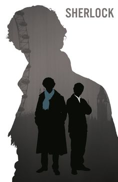 Sherlock Silhouette Art 11X17 Print Sherlock by CaptainsPrintShop