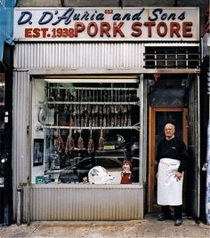 D. D'Auria and Sons Pork Store, Little Italy of the Bronx, in business from 1939-2006