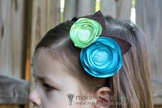 How to make satin flower hair accessories.  Must find cheap satin!!!