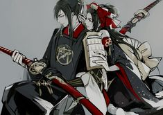 Touken Ranbu, Taroutachi, Jiroutachi Pls destroy me haha ((((((: Samurai, Manga Anime, Anime Art, Nikkari Aoe, Touken Ranbu Characters, Hugs And Cuddles, Butterflies Flying, Bleach Anime, Japanese Games