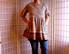 76  Med Vintage Dress Mod UpCycled Clothing: Hipster by ArtzWear