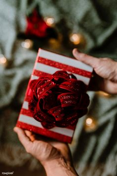 f1ef7ade3546d Download free image of hands holding a christmas themed gift 543789