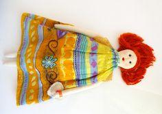 Essa ruivinha é a primeira do sonho de criar uma boneca com identidade própria by Casulo dos Fios