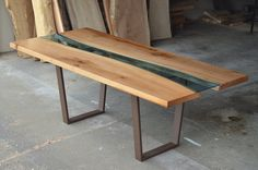 Gorgeous Glass River Inlays Breathe Life into Sustainably Sourced Wood Furniture