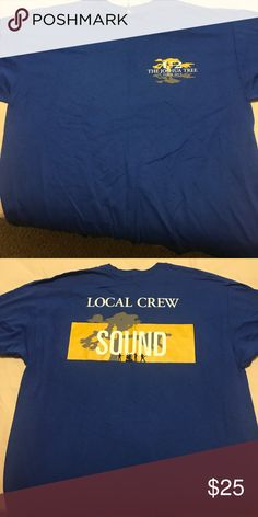 U2 Joshua tree local load out crew shirt Blue shirt given to locals to help the sound crew Shirts Tees - Short Sleeve