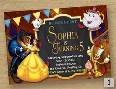 La bella y la bestia invitan, cumpleaños invitación fiesta, belleza bestia tarjeta de fiesta para imprimir, Disney belleza, invitación de la princesa Belle