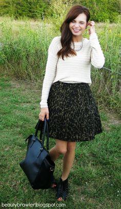 Knit Sweater & Pattern Skirt #beautybrawler