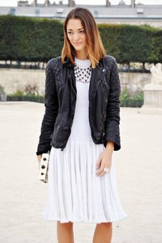 A quilted leather jacket - Street Talk - Fall Trends - Discover More Street Style - ELLE