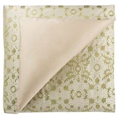 Malena Duvet Cover in Sage Green/Green by Frette