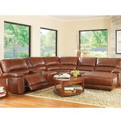 Ricardo Leather Sectional Living Room Furniture Collection Power Reclining