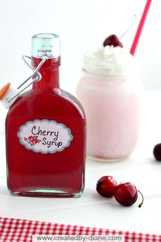 Homemade Cherry Syrup from @createdbydiane