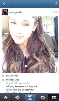 Ari selfie on Insta