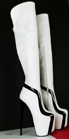 Thin High Heel Platform Thigh High Boots (Boots can be producedwith thicker heels if requested at checkout - in notes part ) Big sizes are also available. Sizes from eu33 to eu 45 (eu33 is 21 cm feet lenght, eu45 is30 cm feet lenght) You can inform us with your leg ( calf and ankle circumferences ) , we can make White Thigh High Boots, Knee High Boots, Thick Heels, Low Heels, Big Sizes, Cosplay Outfits, Photo Colour, Shoe Boots, Shoes