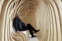Courtesy of Paco Ulman Ribs, Interior Architecture, Bench, Architecture Interior Design, Interior Designing, Pork Ribs, Rib Roast, Desk, Bench Seat