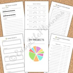 PROJECT PLANNER Personal Size Printable PDF. 3.7 x 6.7 - Filofax Craft Planner Inserts. 6 documents. Instant Download by EasyLifePlanners on Etsy